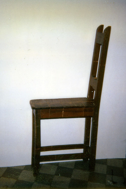fit chair, 1989 - chaise coupée & recollée