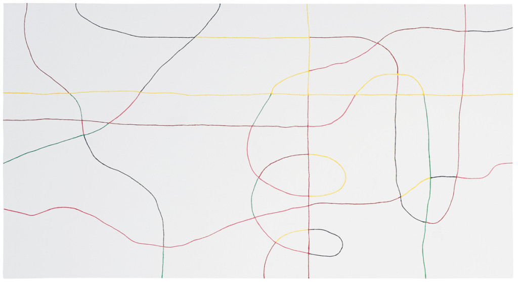 Who's next ? (white), 1999 – acrylique sur toile / acrylic on canvas – 110 x 200 cm.