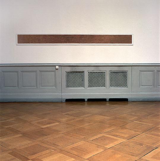 Rendu peinture brune, 1991 – impression à jet d'encre, eau / inkjet print, water – 21 x 275 cm.