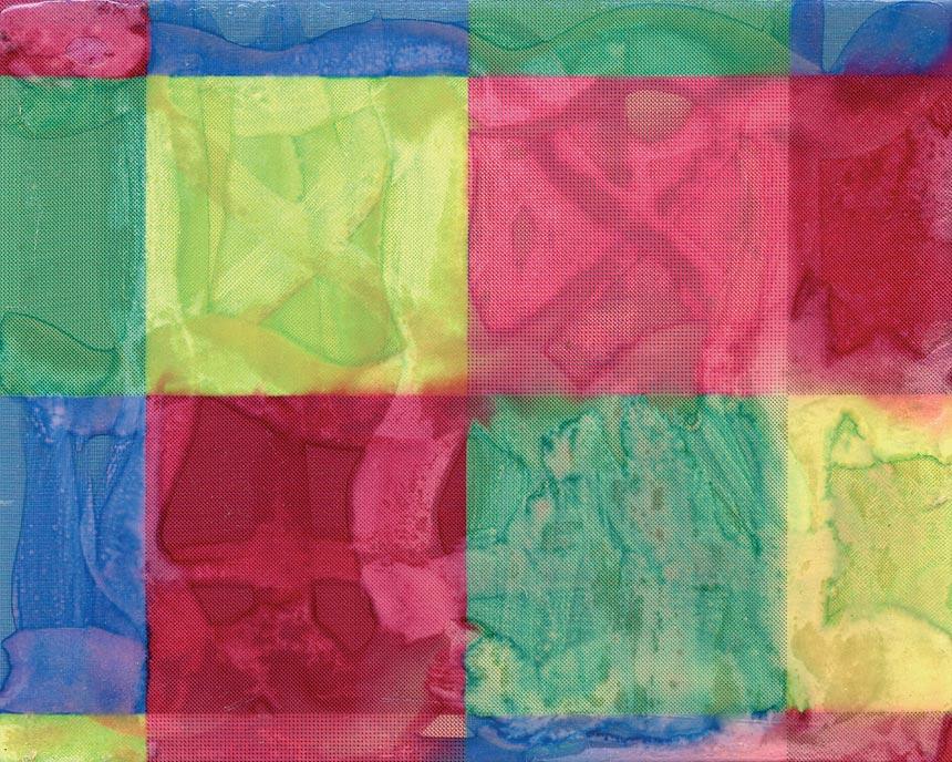 Rendu peinture, 1991 – impression à jet d'encre marouflée sur aluminium, eau, vernis inkjet print mounted on aluminium, water, varnish – 16 x 20 cm.